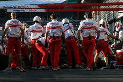 Toyota Racing pit stop training