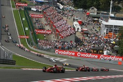 Start, Kimi Raikkonen, Scuderia Ferrari, F2007 ve Felipe Massa, Scuderia Ferrari, F2007,Fernando Alo