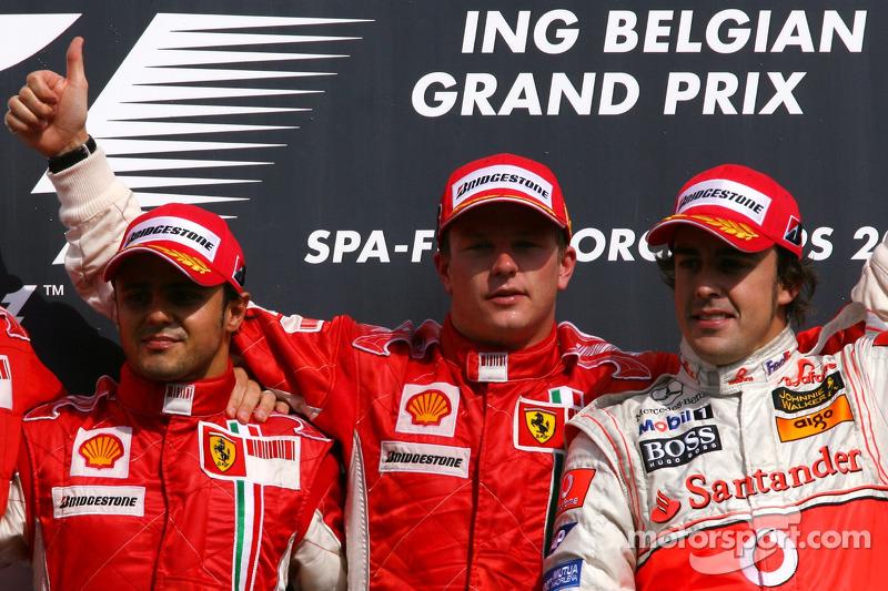 49- Fernando Alonso, 1º en el GP de Bélgica 2007 con McLaren