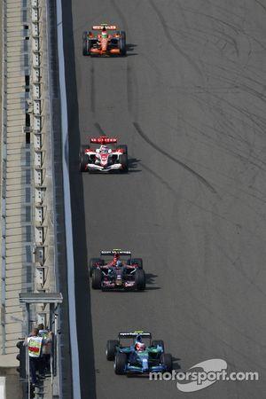 Rubens Barrichello, Honda Racing F1 Team, RA107, Vitantonio Liuzzi, Scuderia Toro Rosso, STR02 yTakuma Sato, Super Aguri F1, SA07