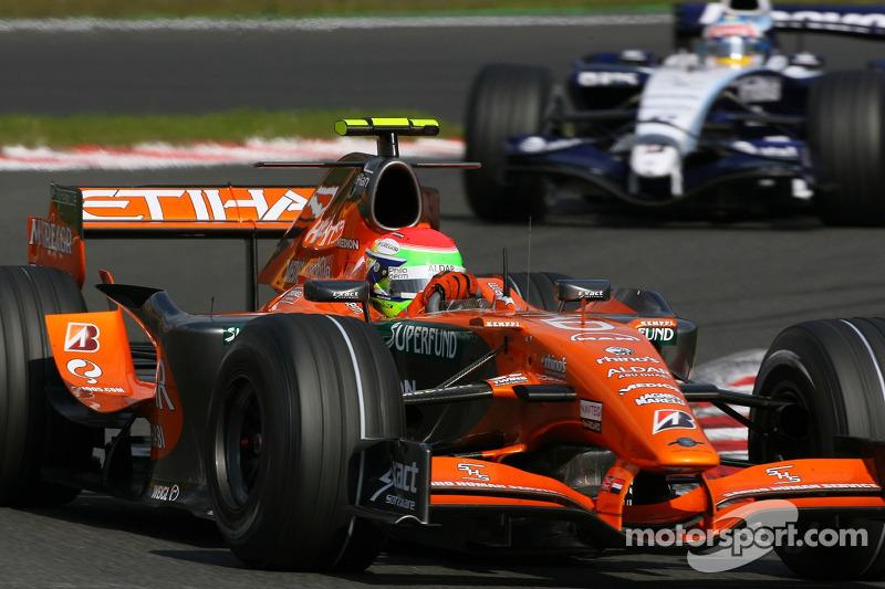 Sakon Yamamoto, Spyker F1 Team, F8-VII-B, Alexander Wurz, Williams F1 Team, FW29