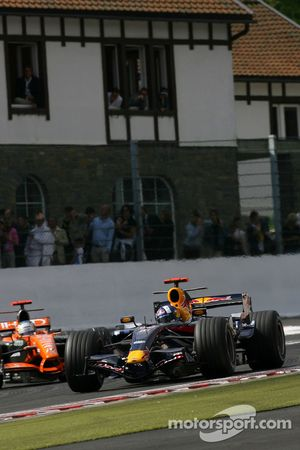 David Coulthard, Red Bull Racing, Adrian Sutil, Spyker F1 Team