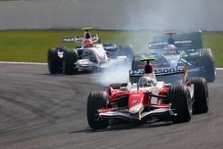 Jarno Trulli, Toyota Racing , Jenson Button, Honda Racing F1 Team