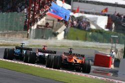 Sakon Yamamoto, Spyker F1 Team, Anthony Davidson, Super Aguri F1 Team