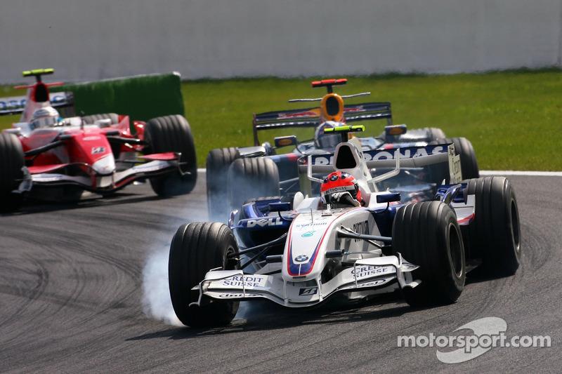 Robert Kubica, BMW Sauber F1 Team , David Coulthard, Red Bull Racing