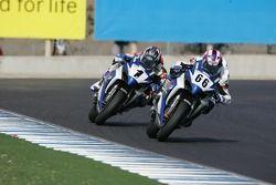 Ben Spies chasse Mat Mladin pour le championnat Superbike