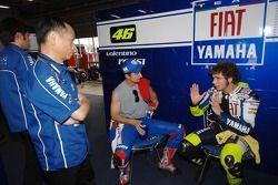 Valentino Rossi and Colin Edwards