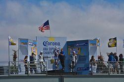 Ben Spies wins the 2007 AMA Superbike Championship at Mazda Raceway Laguna Seca