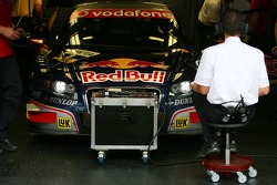 Race engineer of Mattias Ekström, Audi Sport Team Abt Sportsline, Audi A4 DTM, sitting in front of