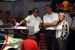 While Mattias Ekström, Audi Sport Team Abt Sportsline, Audi A4 DTM is talking to his engineer Hans-