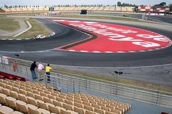 General view from the Piso Box grandstand onto the Curva La Caixa