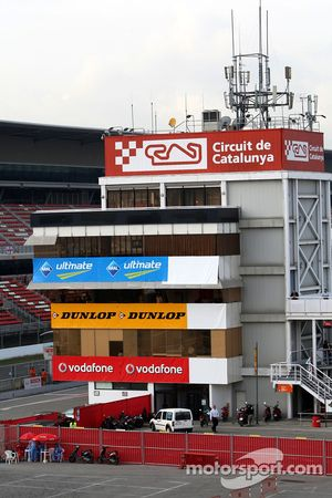 General view at the pitlane tower