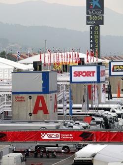 General view at the Barcelona paddock