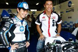 Shinya Nakano and F1 driver Takuma Sato