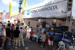Konica Minolta Honda display area