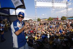 Colin Edwards on stage