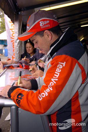 Craig Lowndes signing autographs