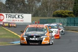 Garth Tander in the middle of the pack