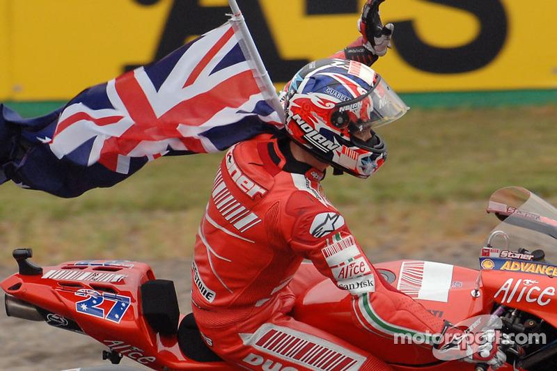 Святкування чемпіона MotoGP 2007 Кейсі Стоунера
