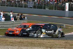 Daniel la Rosa, Mücke Motorsport AMG Mercedes, AMG Mercedes C-Klasse, overtakes Christian Abt, Audi