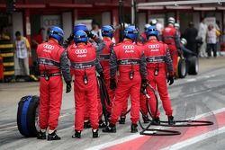 Pitstop practice at the Audi Sport Team Abt Sportsline team