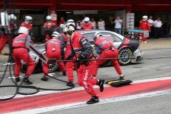 Pitstop practice with Tom Kristensen, Audi Sport Team Abt Sportsline, Audi A4 DTM