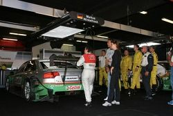 Car of Vanina Ickx, TME, Audi A4 DTM, in the pitbox after Audi withdrawed all cars from the race