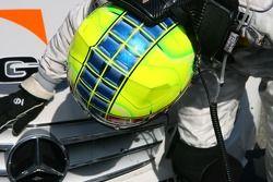 Jamie Green, Team HWA AMG Mercedes, AMG Mercedes C-Klasse, thanks his car for the victory