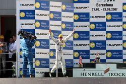 Race winner Jamie Green, Team HWA AMG Mercedes, AMG Mercedes C-Klasse walks on the podium