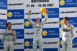 Podium: Jamie Green, Team HWA AMG Mercedes, Bruno Spengler, Team HWA AMG Mercedes, Paul di Resta, Persson Motorsport AMG Mercedes