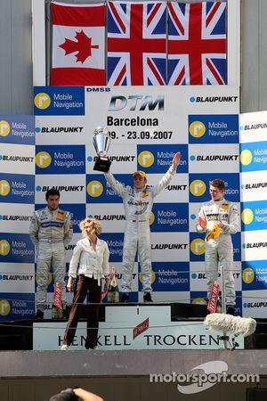 Podium: 1st Jamie Green, Team HWA AMG Mercedes, AMG Mercedes C-Klasse; 2nd Bruno Spengler, Team HWA AMG Mercedes, AMG Mercedes C-Klasse; 3rd Paul di Resta, Persson Motorsport AMG Mercedes, AMG Mercedes C-Klasse