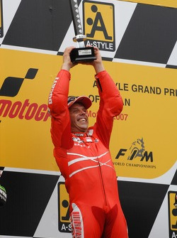 Podium: race winner Loris Capirossi