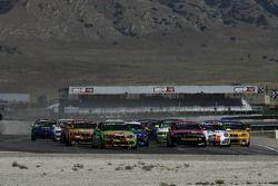 Départ GS: #99 Automatic Racing BMW M3: Tom Long, David Russell et #90 automatique Racing BMW M3: Jo