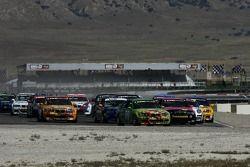 Départ GS: #99 Automatic Racing BMW M3: Tom Long, David Russell devant #90 Automatic Racing BMW M3: