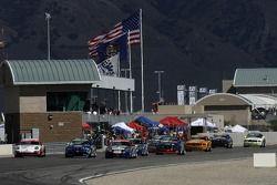 #25 Fiorano/ C-MAX Racing Porsche 997: Dave Riddle, Kris Wilson, #78 Kinetic Motorsports BMW M3: Ian