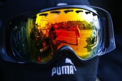 Reflection in an helmet visor