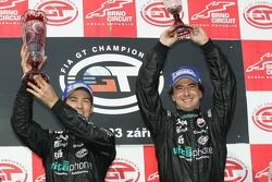 GT1 podium: class and overall winners Miguel Ramos and Christian Montanari