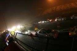 The race is stopped as the fog gets too thick