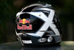 David Coulthard, Red Bull Racing,, kask memory, late Colin McRae