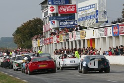 GT cars starting grid