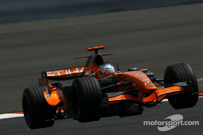 #20: Adrian Sutil, Spyker F1 Team, F8-VII