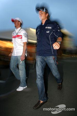 Nico Rosberg, WilliamsF1 Team, Ralf Schumacher, Toyota Racing