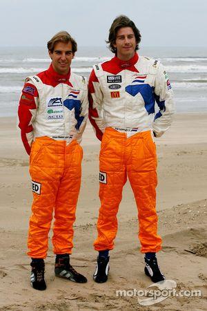 Jeroen Bleekemolen, pilote A1 Equipe des Pays-Bas et Arie Luyendyk Jr., pilote A1 Equipe des Pays-Ba