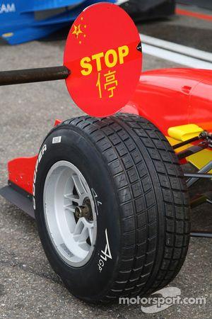 Signe Stop de l'A1 Equipe de Chine