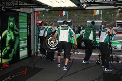 Séance d'arrêt au stand pour l'Équipe d'Irlande