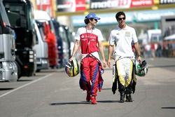 Lucas di Grassi and Bruno Senna