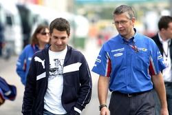 Timo Glock with race engineer, Richard Selwin