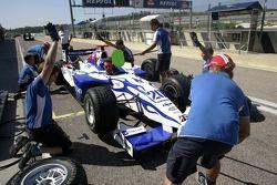 The DPR mechanics practice pit stops