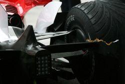 Dommages sur la voiture de Ralf Schumacher, Toyota Racing