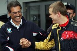 Dr Mario Theissen, BMW Sauber F1 Team, directeur de BMW Motorsport et Sebastian Vettel, scuderia Tor